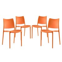 Modway Hipster Dining Side Chair, Set of 4, Multiple Colors