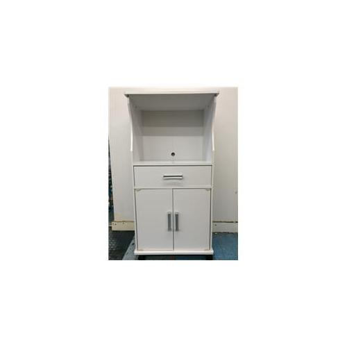 Hodedah Hikf2701 White Microwave Cart