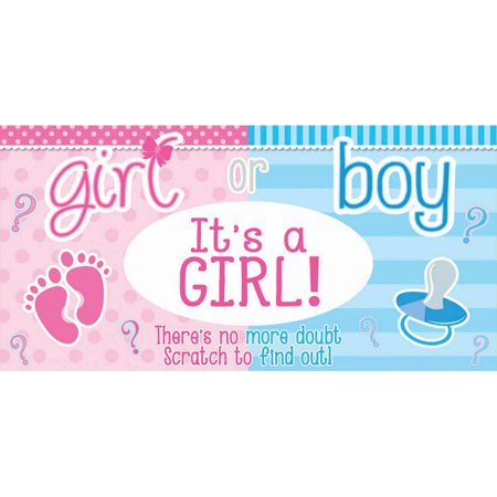Gender Reveal Lotto Tickets- It's a Girl (12) - Gender Reveal Scratch Off
