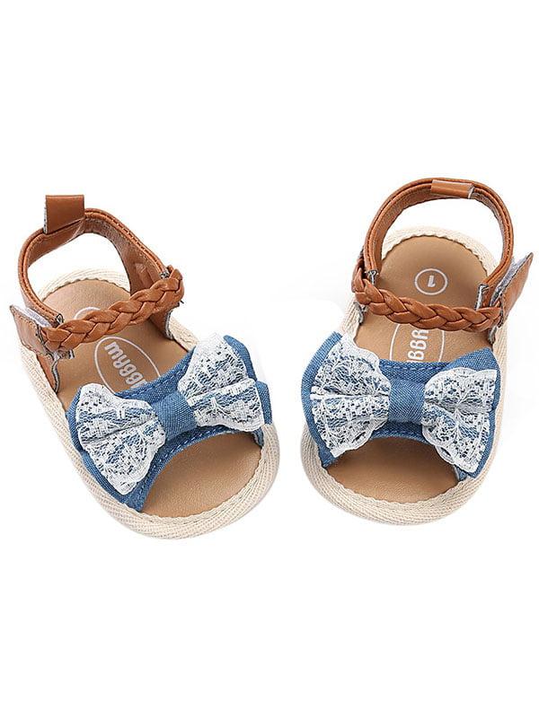 Babula Baby Girl Summer Bow Sandals Soft Sole