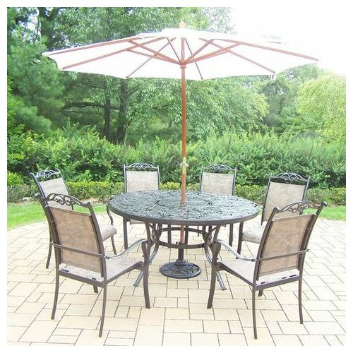 August Grove Basile 7 Piece Dining Set