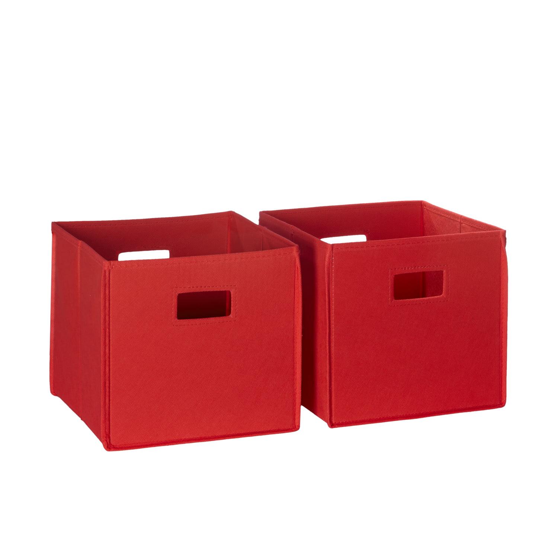 RiverRidge 2 Pc Folding Storage Bin Set - Red
