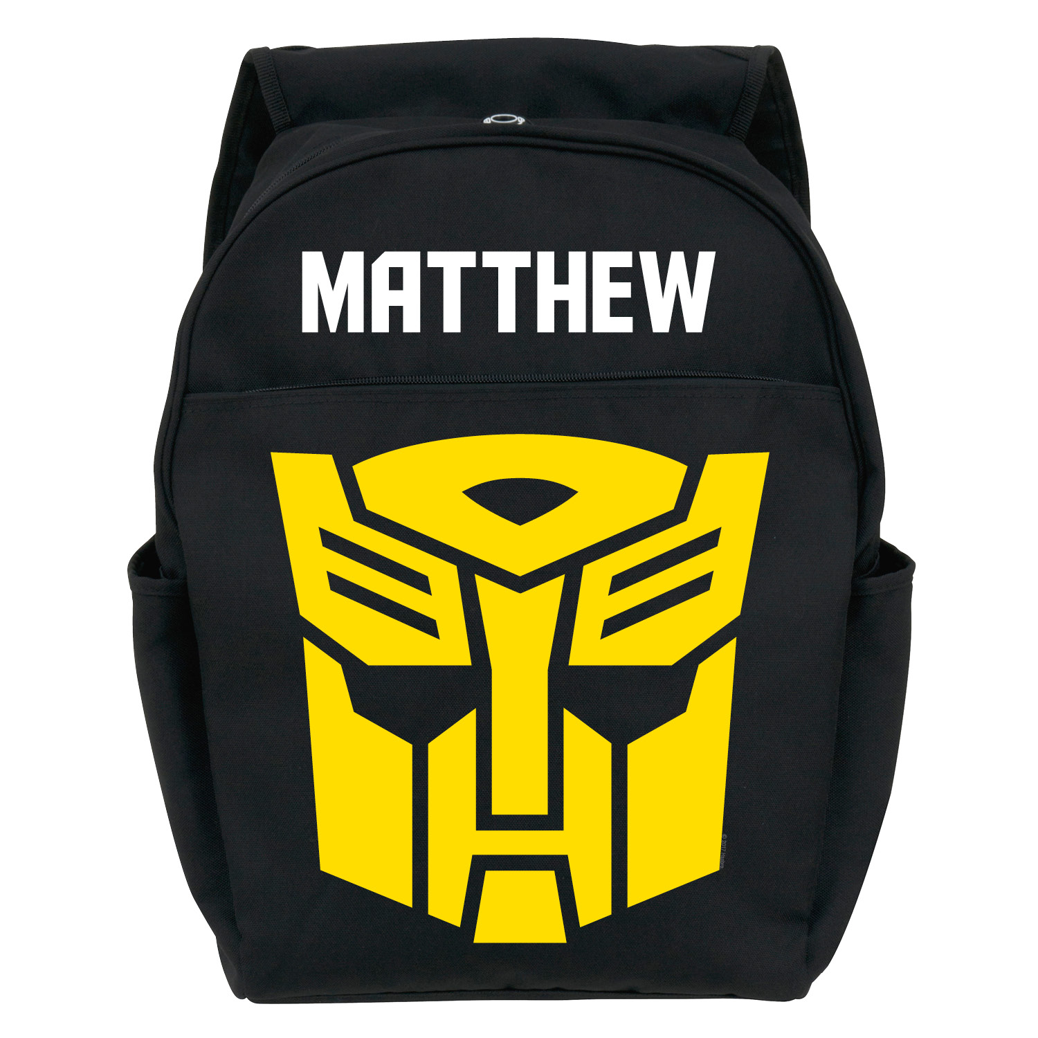 Personalized Toddler Black Backpack - Transformers Robots in Disguise Bumble Bee