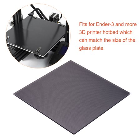 Aibecy Carbon Silicon Crystal Glass Print Bed Platform Build Surface 235*235mm for Ender 3 Printer Hotbed - image 1 of 7