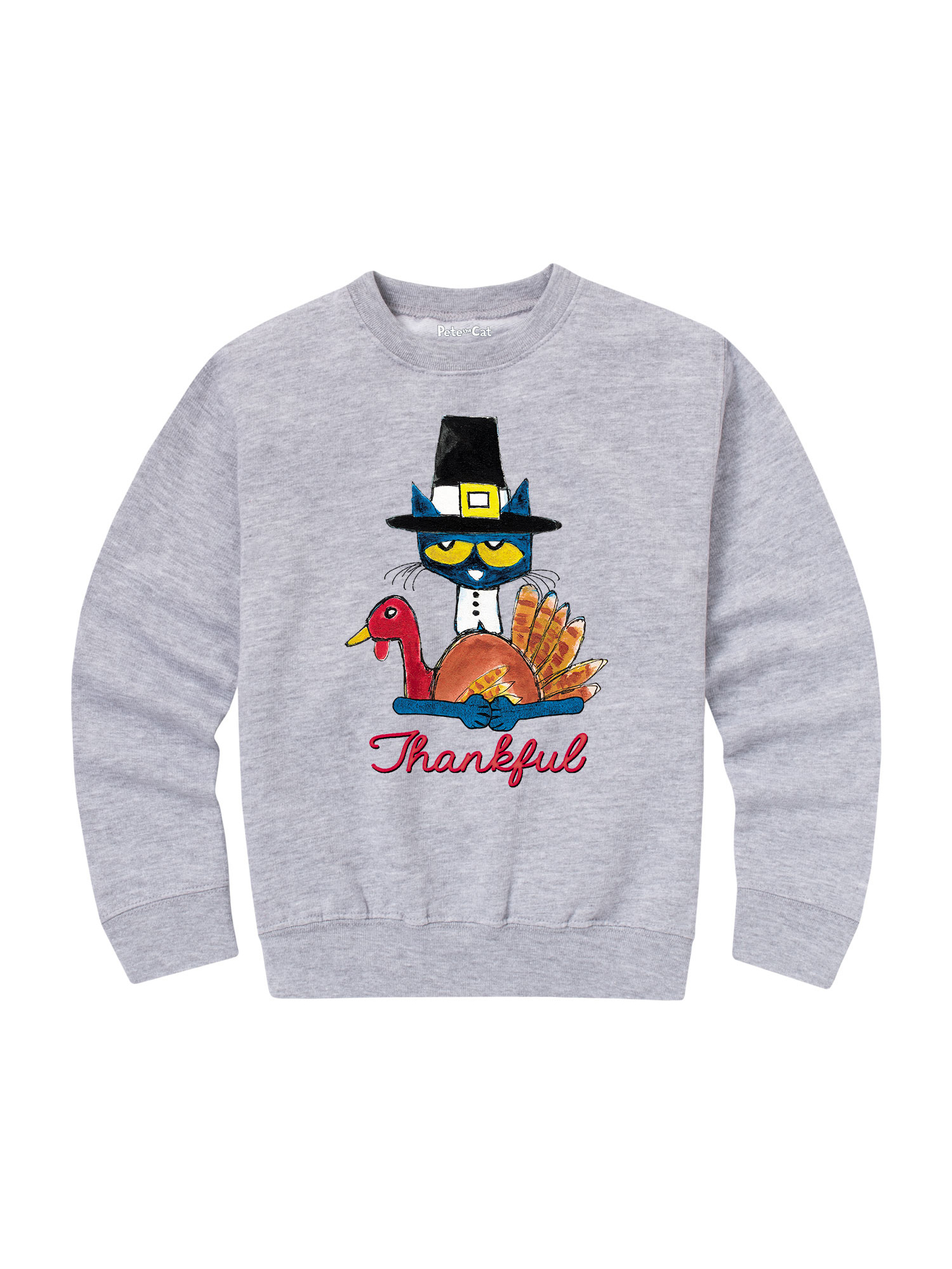 Pete The Cat Thankful - Toddler Crew Fleece