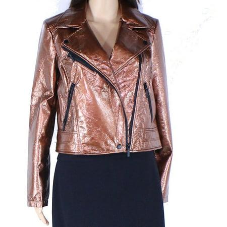 Womens Jacket Medium Motorcycle Zip Front M ()