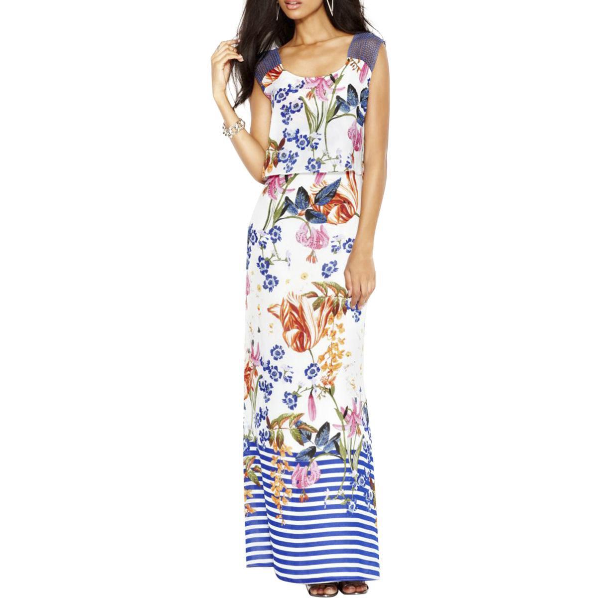 Jessica Simpson Womens Chiffon Sleeveless Maxi Dress