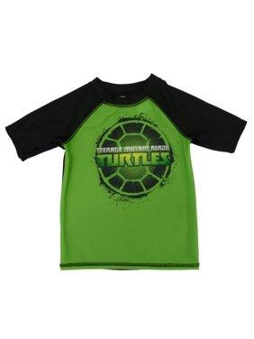 81d2e41395 Product Image Teenage Mutant Ninja Turtles Boys Green & Black Rash Guard  Swim Shirt 4