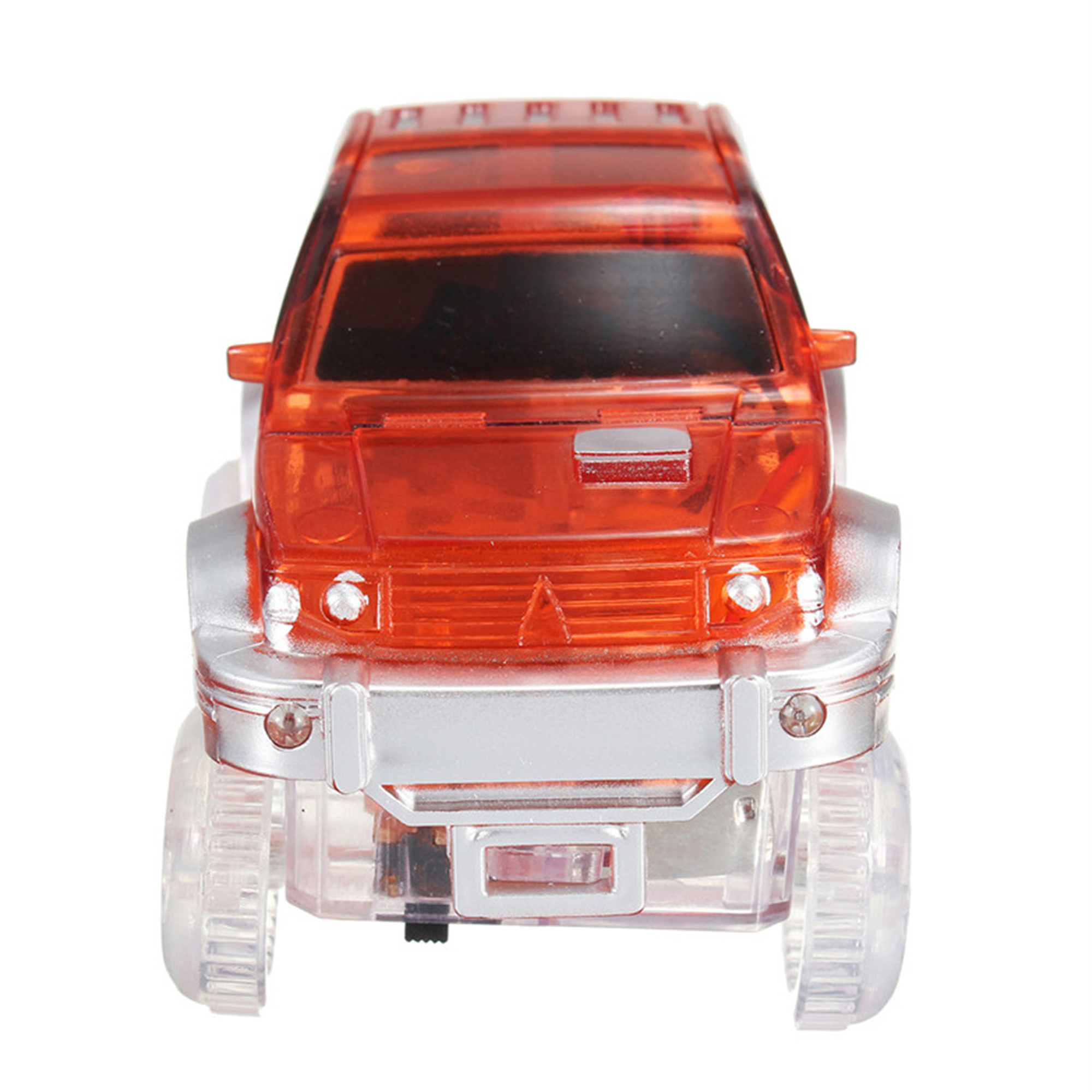 Kids Toy 3pcs Car Track Toy with 5 LED Lights Glow in the Dark Light Up Cars