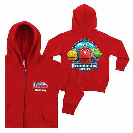 Krew Hoody (Personalized Chuggington Traintastic Crew Toddlers' Red Zip-Up Hoodie)