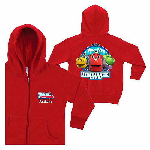 Personalized Chuggington Traintastic Crew Toddlers' Red Zip-Up Hoodie
