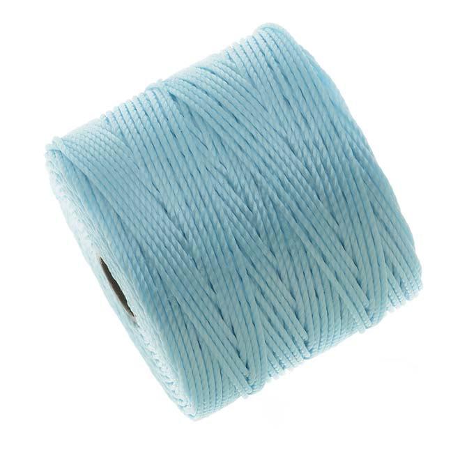 BeadSmith Super-Lon (S-Lon) Cord - Size #18 Twisted Nylon - Sky Blue / 77 Yard Spool