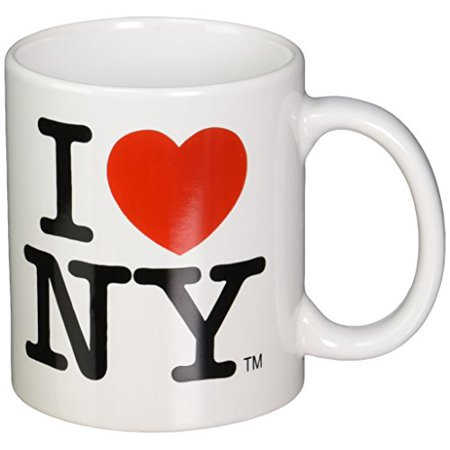 I Love NY Mug - White Ceramic 11 ounce I Love NY Mugs from the New York City Souvenir Store - Halloween Stores New York