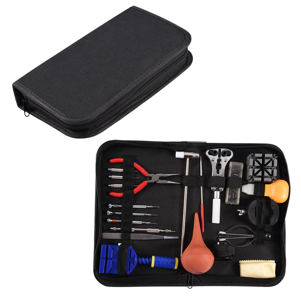 Professional Watch Repair Tool Kit Opener Hand Remover Spring Bar Tool Set with Black Carrying Case