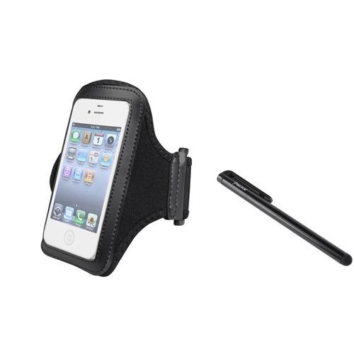 Insten Black Sport Gym Armband Case Cover For HTC EVO 4G Sprint +Black Stylus