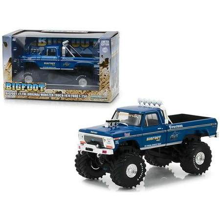 1979 Ford F-series Trucks - Greenlight Collectibles 86097 1:43 Bigfoot #1 The Original Monster Truck (1979) - 1974 Ford F-250 Monster Truck