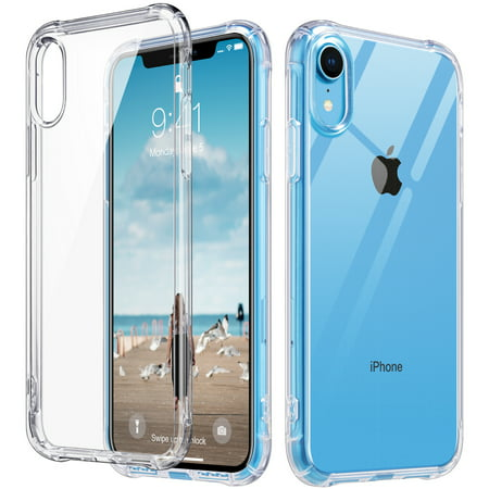 ULAK iPhone XR Case Clear, Slim Fit Transparent Flexible Soft TPU Bumper Shock-Absorption Cover for Apple iPhone XR Case (2018)-Retail Packaging, HD