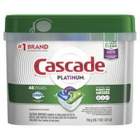 Cascade Platinum ActionPacs Dishwasher Detergent, Fresh Scent, 48 Ct