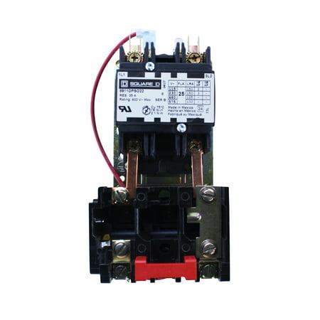 Square D 8911DPSO22V14 2 Pole 600V Open Type Definite Purpose Starter
