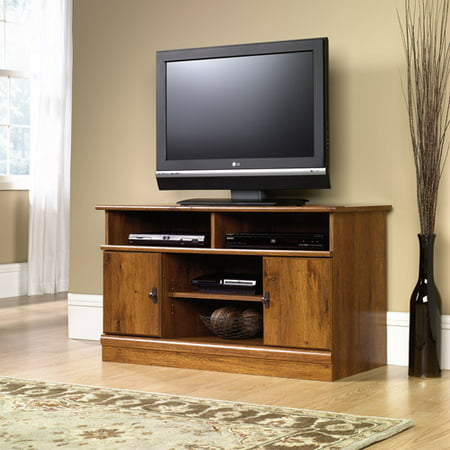 Sauder Harvest Mill Panel TV Stand for TVs up to 43″, Abbey Oak Finish