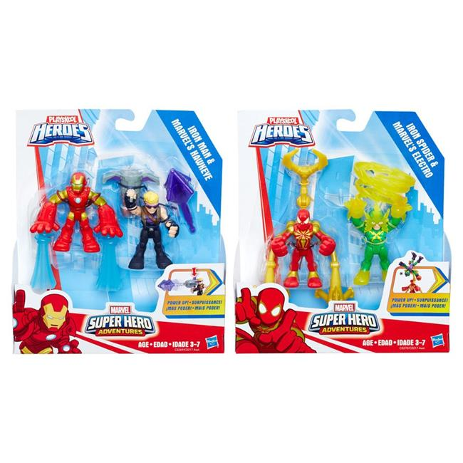 Hasbro HSBC0217 Marvel Super Hero Adventures Power Up Wave 2 Case, Pack of 2 by Hasbro