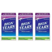 3 Pack Bion Tears Lubricant Eye Drops, Single-Use Vials - 84 Count