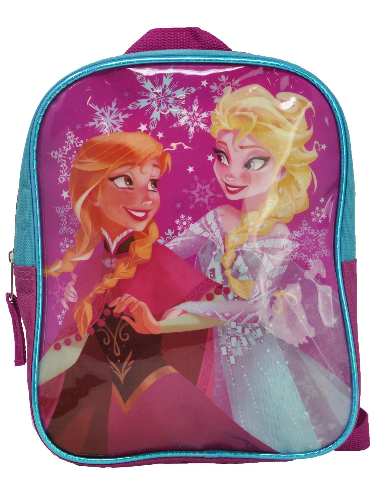 "School Backpapck 13/""W x 17/""H x 8/""D Disney Frozen Elsa Snowflakes"