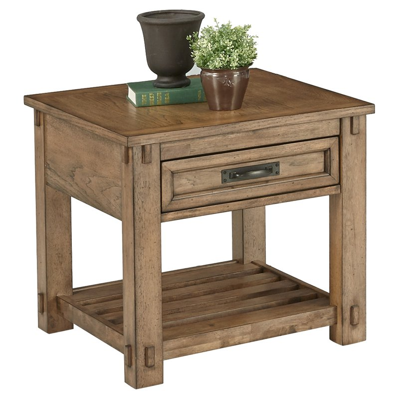 Progressive Furniture Boulder Creek Square Lamp Table by Progressive Furniture