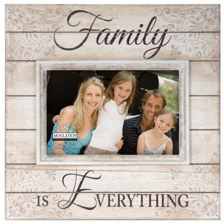 malden 4 39 39 x 6 39 39 family is everything sunwashed wood picture frame. Black Bedroom Furniture Sets. Home Design Ideas