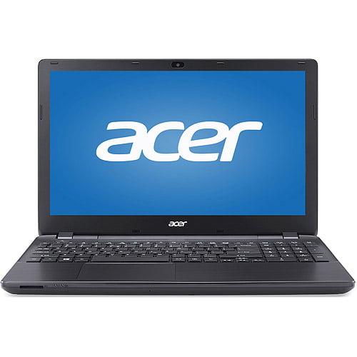 "Acer Black 15.6"" Aspire E5-531-P4SQ Laptop PC with Intel Pentium 3556U Dual-Core Processor, 4GB Memory, 500GB Hard Drive and Windows 7 Home Premium"