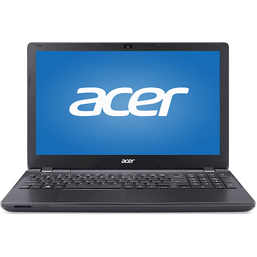 "Acer Black 15.6"" Aspire E5-531-P4SQ Laptop PC with Intel Pentium 3556U Dual-Core Processor, 4GB Memory, 500GB Hard Drive and Windows 7 Home Premium"