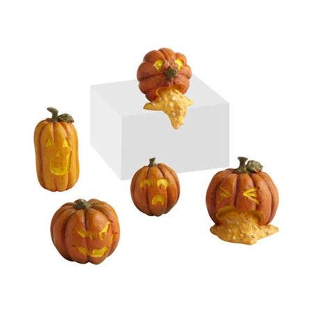 Department 56 Snow Village Halloween 4024033 Wretched Jack O Laterns, Set of 5