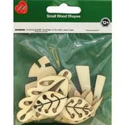 Assorted Wood Shapes-Foliage 10/Pkg