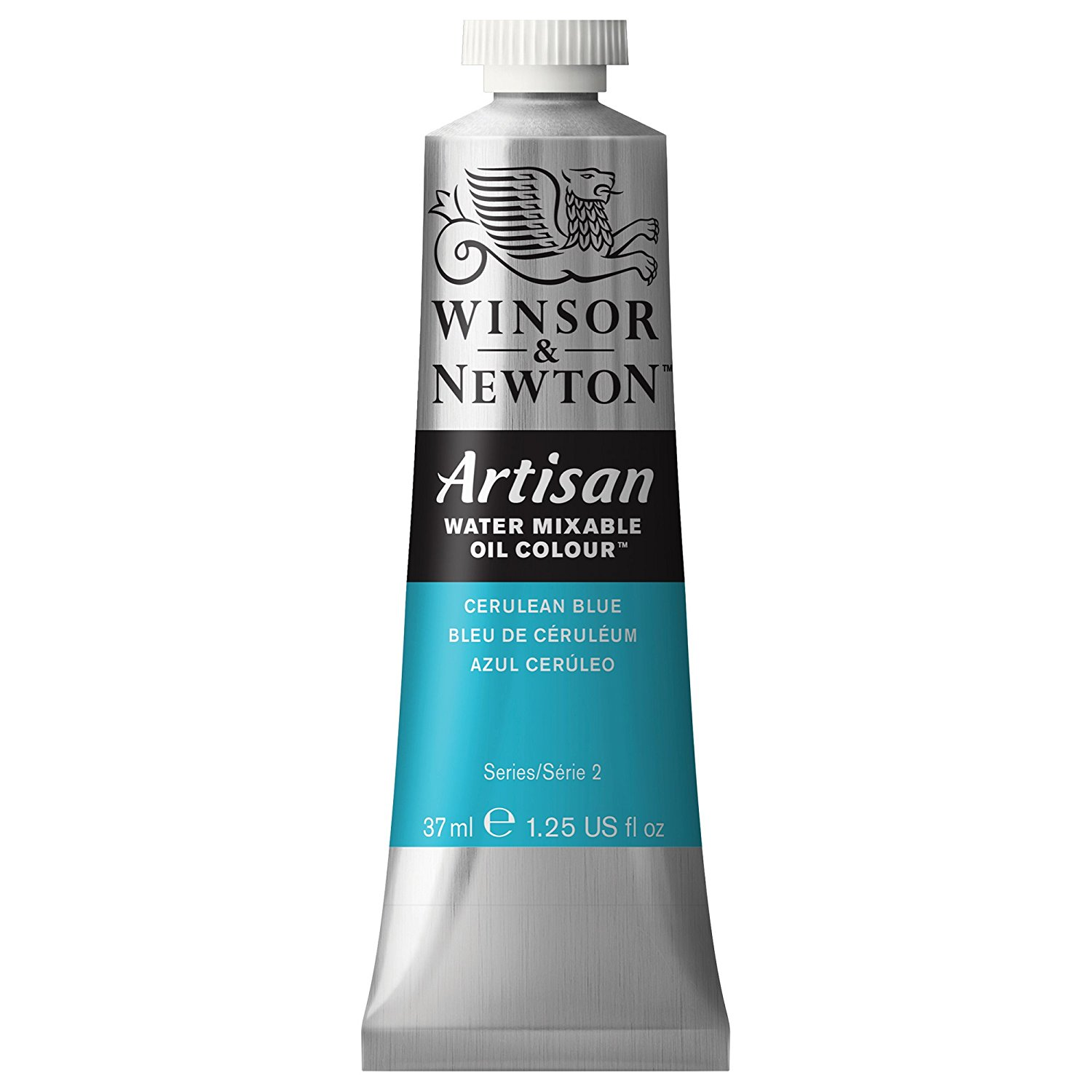 Winsor & Newton Oil Paint: Water Mixable, Cerulean, 37 mL