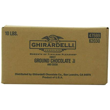 Ghirardelli Chocolate Sweet Ground Chocolate & Cocoa Beverage Mix, 10-Pound