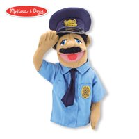 Melissa & Doug Police Officer Puppet (Detachable Wooden Rod for Animated Gestures, Ideal for Left- or Right-Handed Children, 15? H x 5? W x 6.5? L)