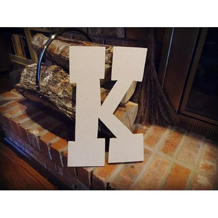 Unfinished Wooden Alphabet Letter, 12'' Rustler K,  Paintable Craft - Halloween Crafts Pre K
