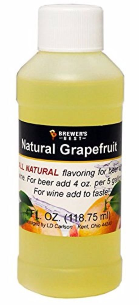 HOZQ8-548 Brewer's Best Grapefruit Natural Beer and Wine Fruit Flavoring, Yellow, Natural... by