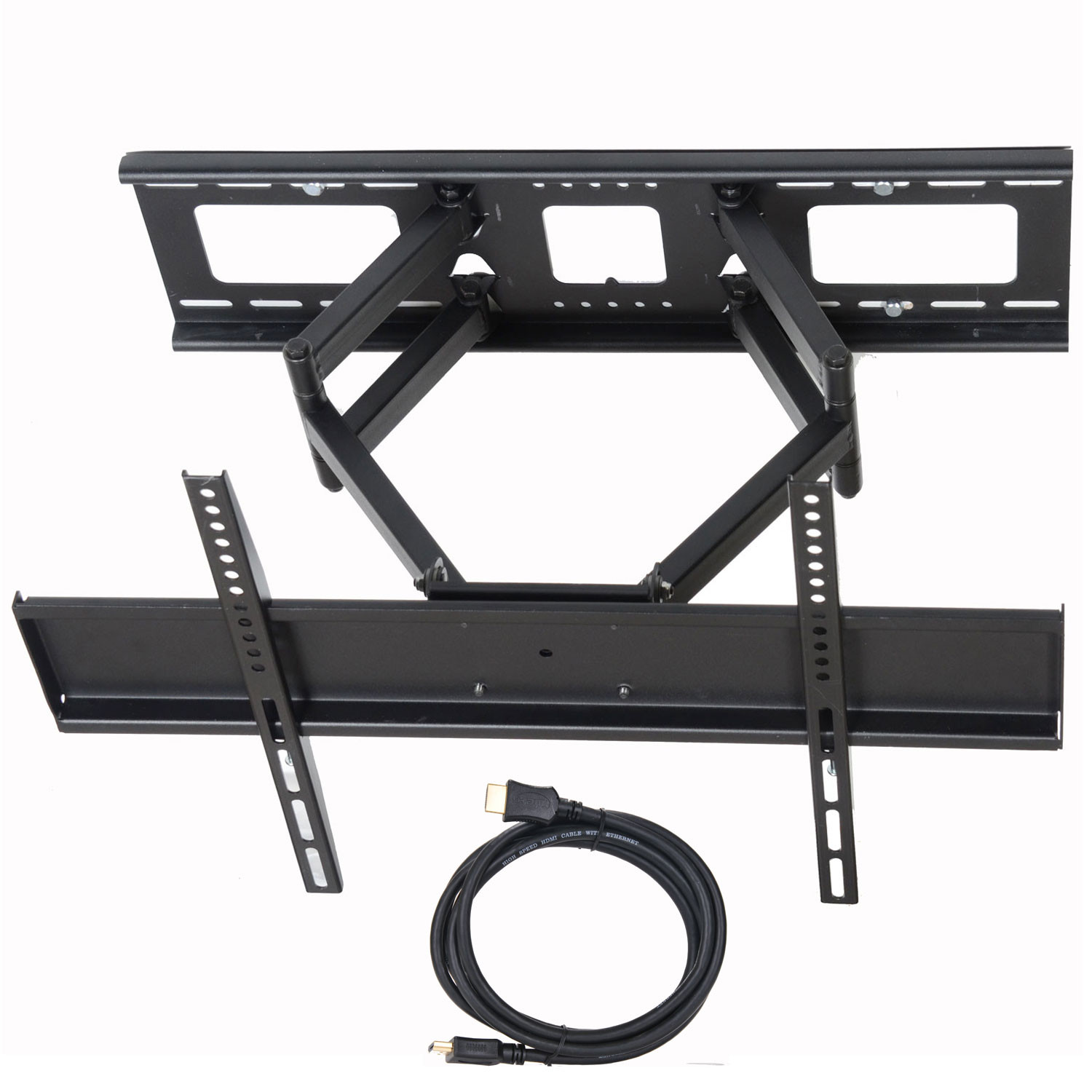 "VideoSecu Tilt Swivel Full Motion TV Wall Mount Dual Arm Bracket for Sony Bravia 32 39 40 42 43 46 49 50 55 60"" LED LCD Plasma XBR-49X800E XBR-49X900E XBR-55A1E XBR-55X800E XBR-55X900E XBR-55X930D BK7"