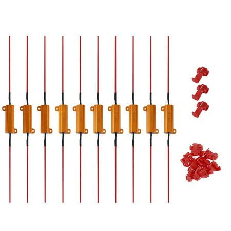Aluminum Shell 50W 6R Load Resistor Fix LED Bulb Fast Hyper