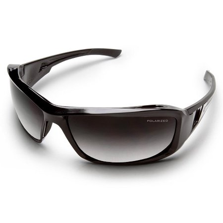 Gradiant Lens - Edge Eyewear Brazeau Black Frame Polarized Sunglasses with Gradient Lens