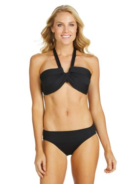 efa579bd53 Product Image Leilani Women's Shoreline Solids Shirred Side Basic Pant Swim  Bottom