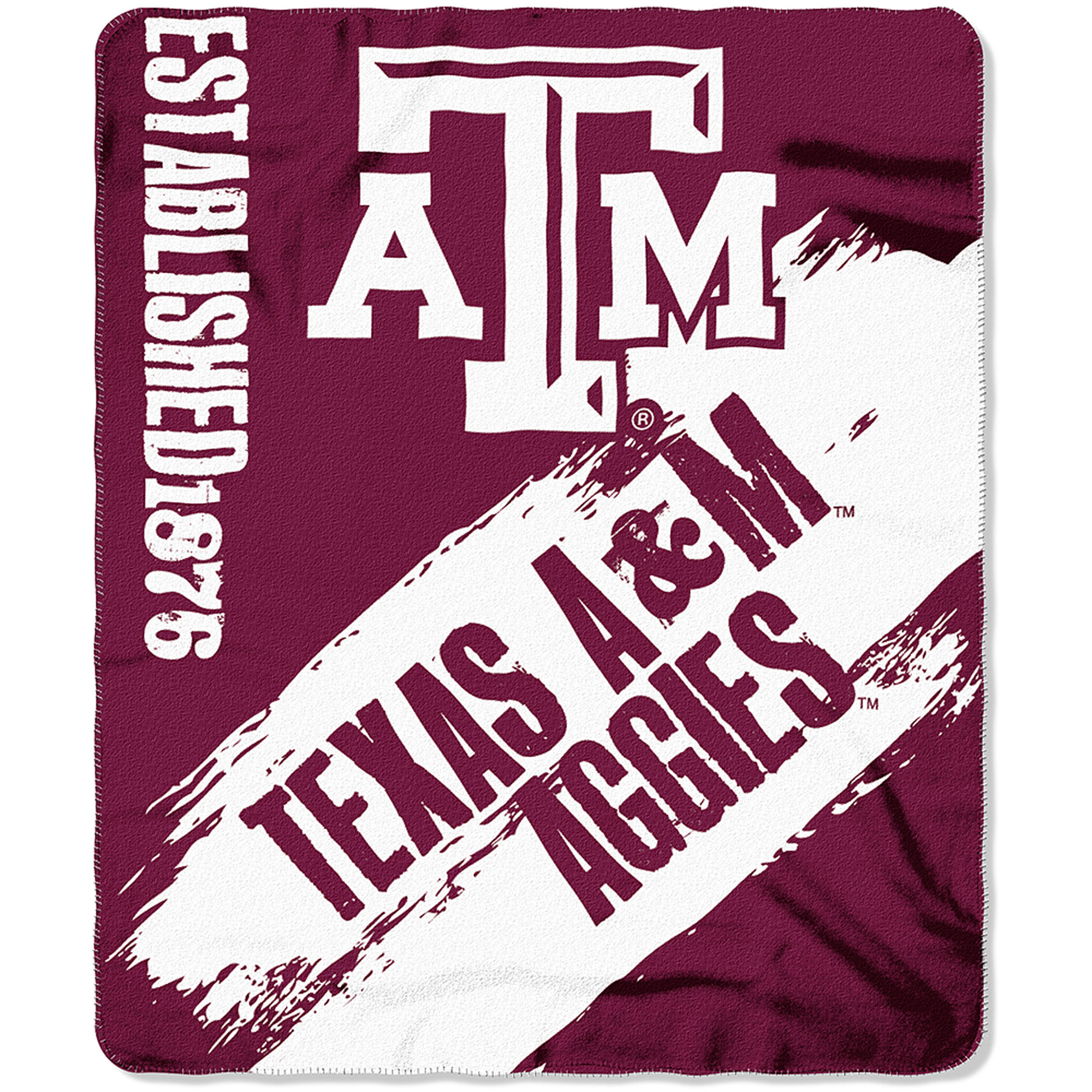 "NCAA Texas A&M Aggies 50"" x 60"" Fleece Throw"