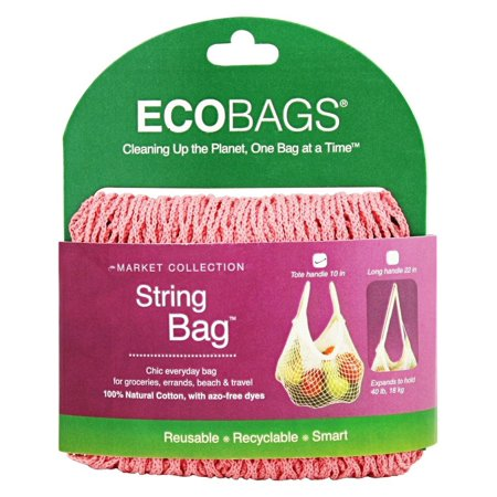 Eco-Bags - Classic String Shopping Bag Coral Rose (American Classic Rose)