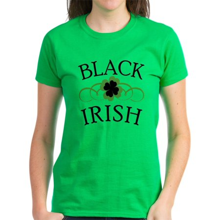 749eb2ba CafePress - CafePress - Black Irish With Fancy Shamrock Women's Dark T Shi  - Women's Dark T-Shirt - Walmart.com