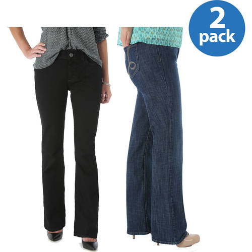 Riders By Lee Womens Slender Stretch Bootcut Jeans Available in Regular, Petite, and Long Lengths, 2 pack