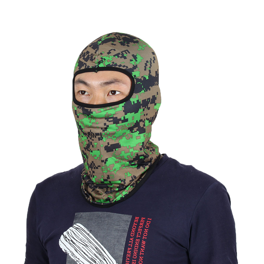Full Face Mask Activities Sports Cycling Biking Hat Helmet Balaclava Camouflage by Unique-Bargains