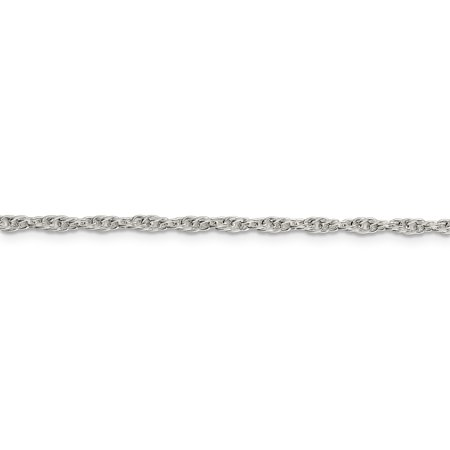 925 Sterling Silver 2.5mm Loose Rope Chain 24 Inch - image 3 de 5