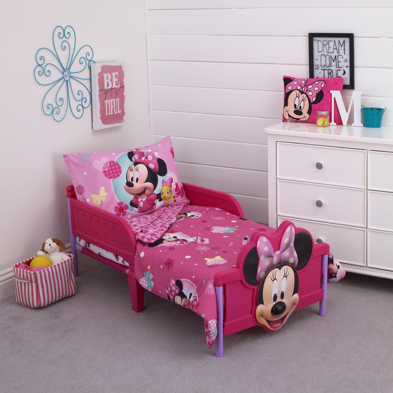 Minnie 4 Piece Toddler Bed Set - Walmart.com