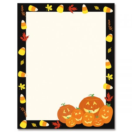 Halloween Jack Stack Halloween Letter Papers- 25 Sheets of of Halloween Letter Papers, Newsletter, Announcement, and Invitation